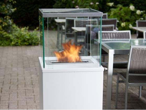 Bio-fireplace COLUMN White