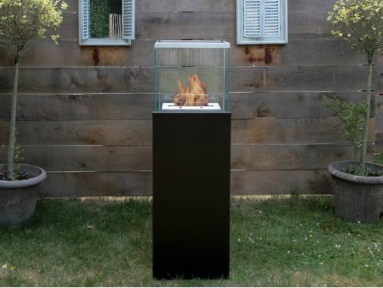 Bio-fireplace COLUMN Black