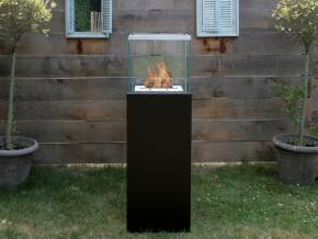 Bio-fireplace COLUMN Black