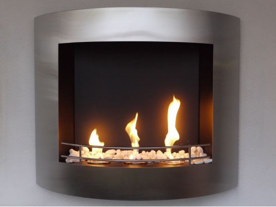 Fireplace FEUER Inox