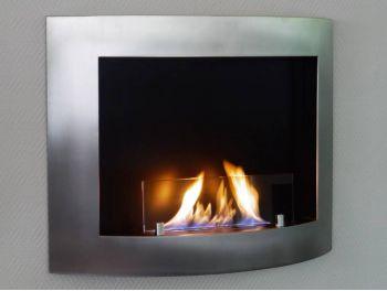 Fireplace CURVO Inox