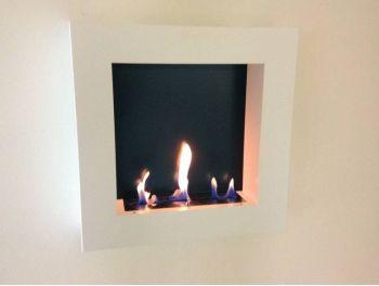Bio-fireplace QUADRO White